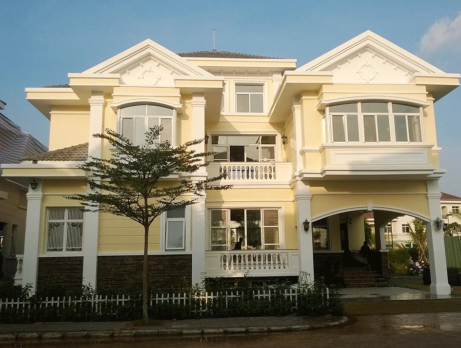 Nhà Cô Oanh, A1-22 khu Chateau, Phú Mỹ Hưng, quận 7, Tp.HCM. Thi công tháng 11 năm 2013, hoàn thành thang 12 năm 2013