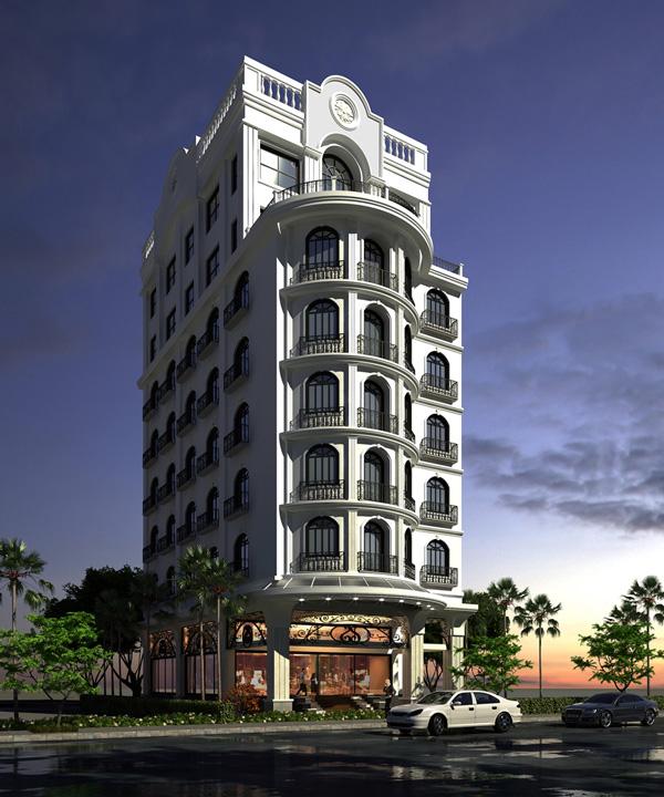 Khách sạn Le Petit Paris số 145 Bùi Thị Xuân, Quận 1, TP.HCM. Thi công tháng 6 năm 2012 hoàn thành tháng 12 năm 2012