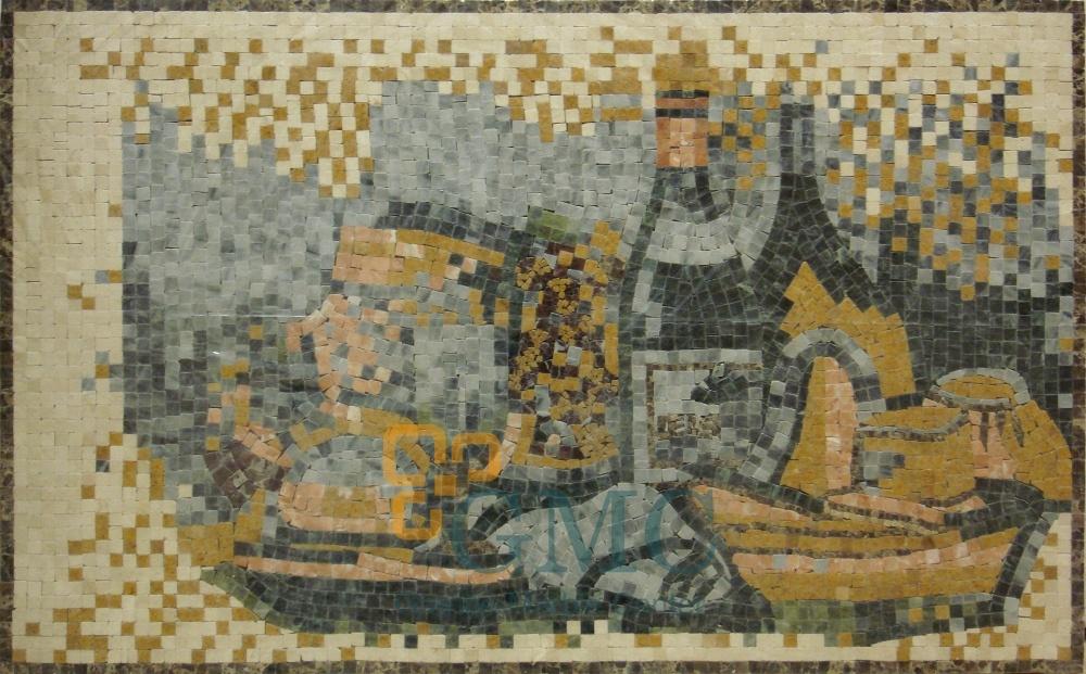 HOA VĂN MOSAIC ĐÁ HOA CƯƠNG GMC  132